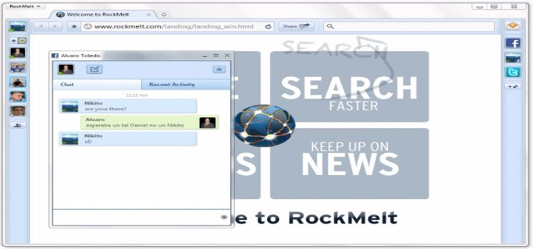 Rockmelt Web Browser