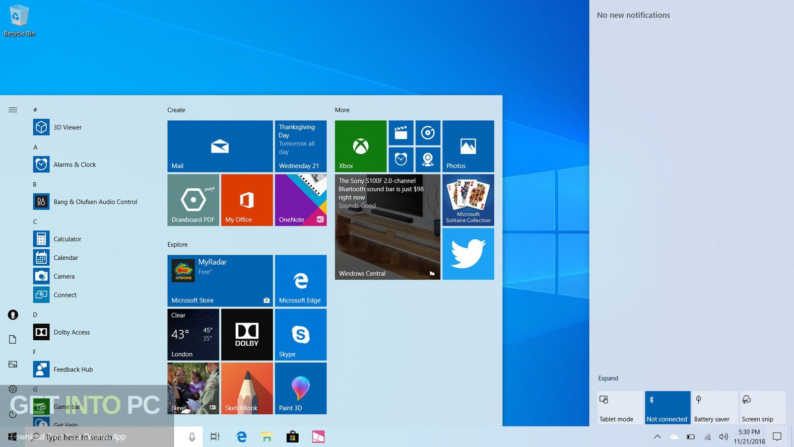 Windows 10 AIO 19H1 32 64 Bit Feb 2019 Direct Link Download-GetintoPC.com