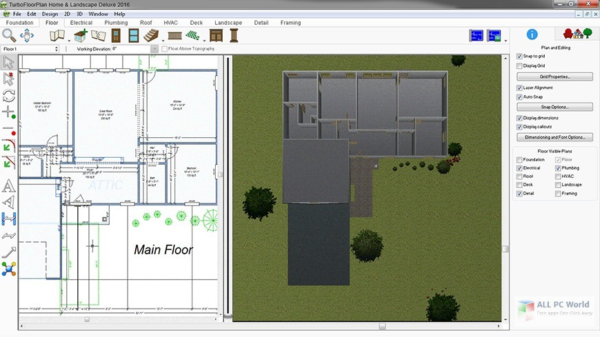 IMSI TurboFloorPlan for home and landscape Pro 2016 v18.0 download free