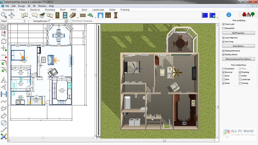 IMSI TurboFloorPlan Home and Landscape Pro 2016 v18.0