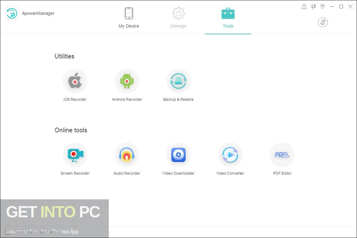 ApowerManager Phone Manager 2019 Offline Installer Download-GetintoPC.com