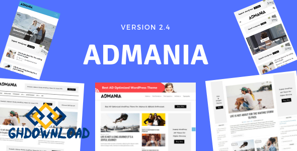 Admania v2.4.1 – AD Optimized WordPress Theme