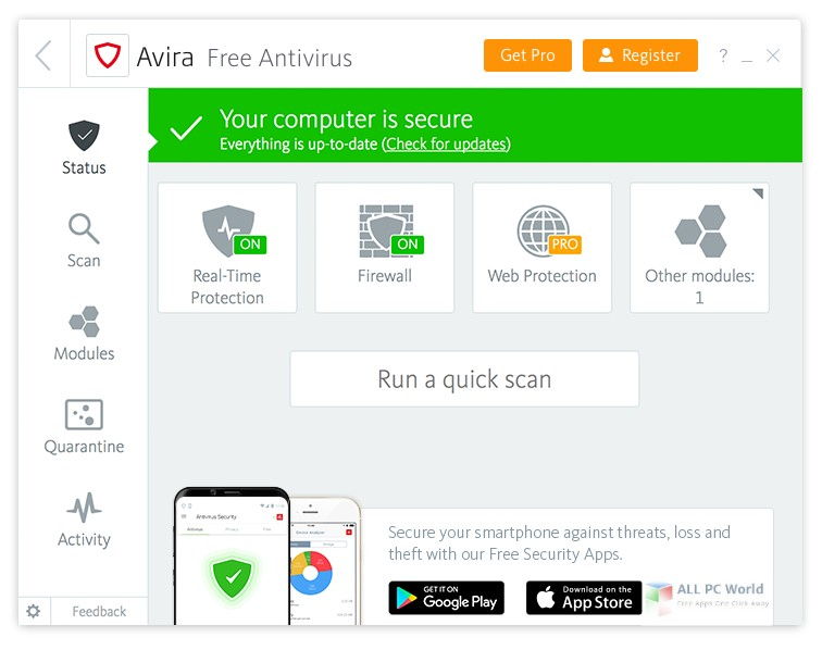 Avira Antivirus Pro 2018 v15.0 download free