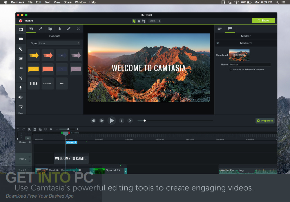 Camtasia 2018 for Mac Direct link Download-GetintoPC.com