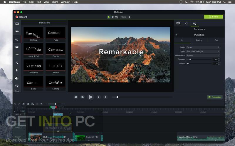 Camtasia 2018 for Mac Latest version Download-GetintoPC.com