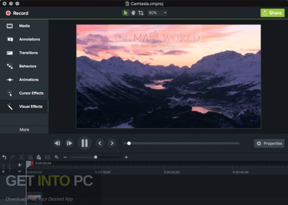 Camtasia 2018 for Mac Standalone Installer Download-GetintoPC.com
