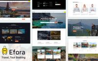 Efora v2.0 – Travel, Tour Booking Theme