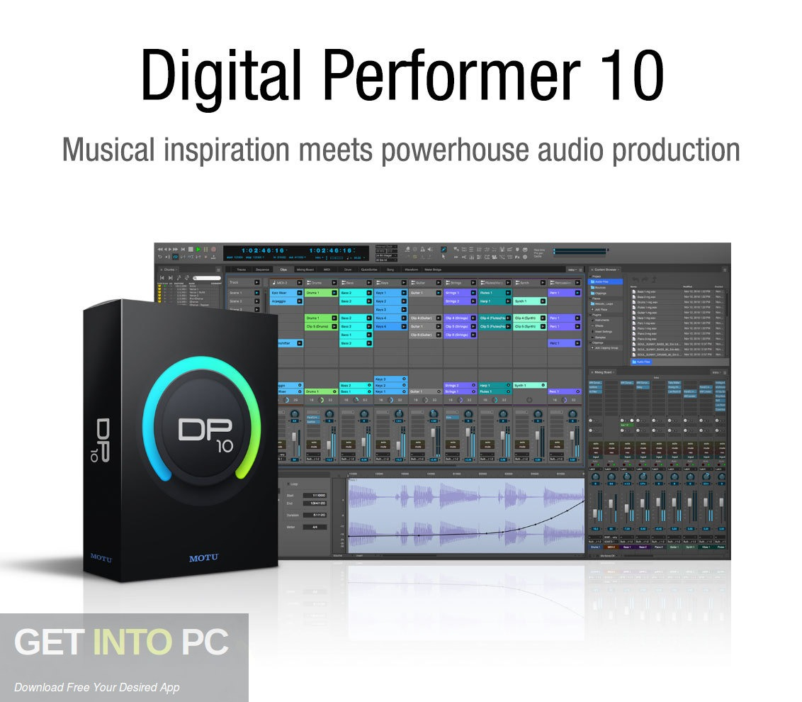 MOTU Digital Performer v10 Free Download - GetintoPC.com