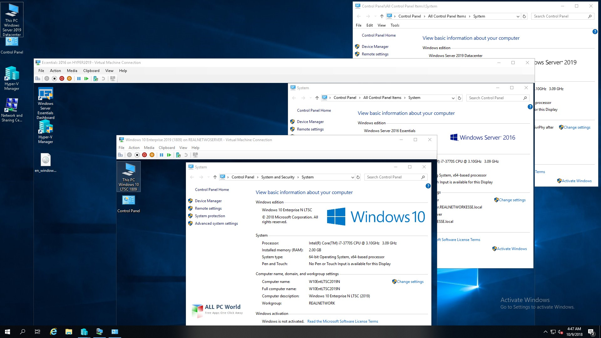 Microsoft Windows 10 LTSC Enterprise, February 2019