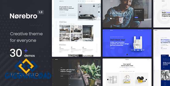 Norebro v1.3.8 – Creative Multipurpose WordPress Theme