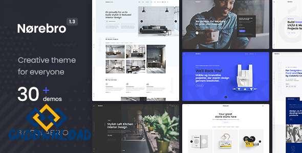 Norebro v1.3.8 - Creative Multipurpose WordPress Theme