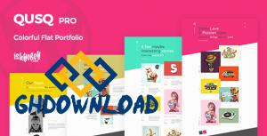 Qusq Pro v1.6 – Flat Colorful Portfolio