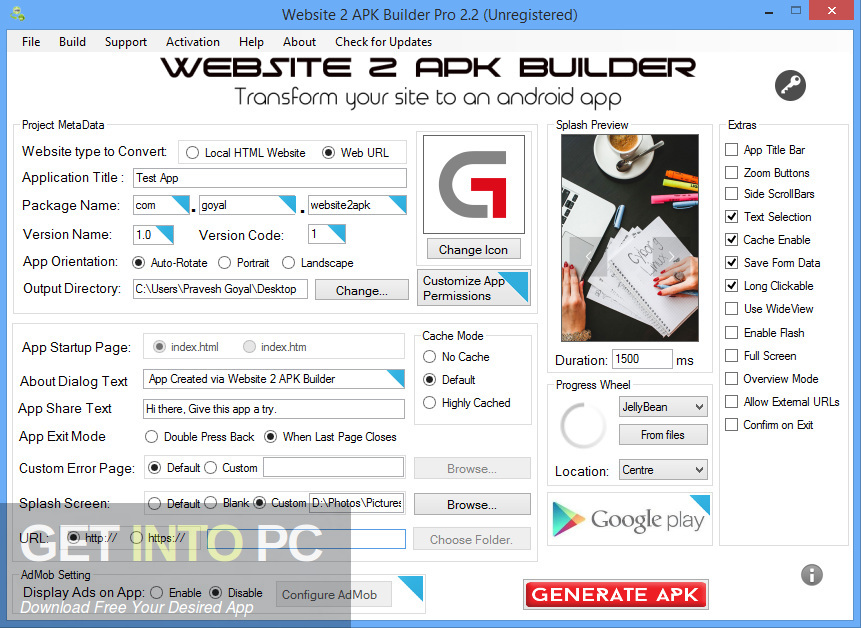 Website 2 APK Builder Pro Latest Version Download-GetintoPC.com