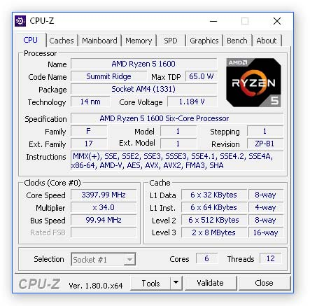 Free download of the latest CPU Z free PC