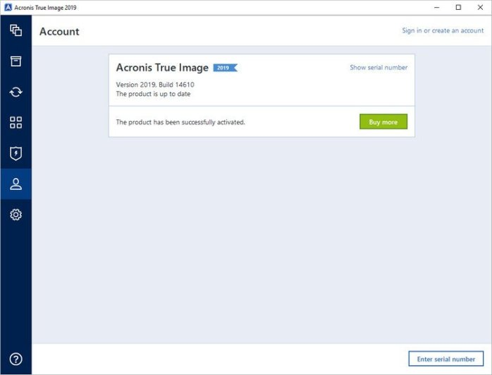 Acronis True Image 2019 Build 14610