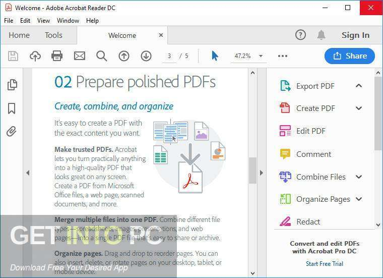 Adobe Acrobat Pro DC 2019 Direct link Download-GetintoPC.com