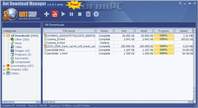 Full version of Ant Download Manager