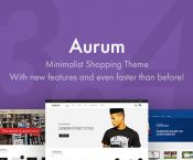 Aurum v3.4.4 – Minimalist Shopping Theme