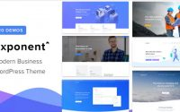 Exponent v1.0.4 – Modern Multi-Purpose Business Theme