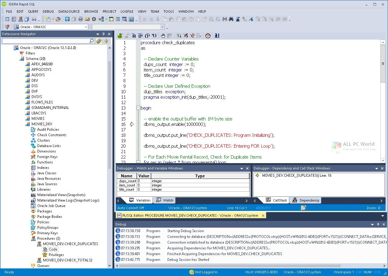 IDERA RapidSQL 17.0