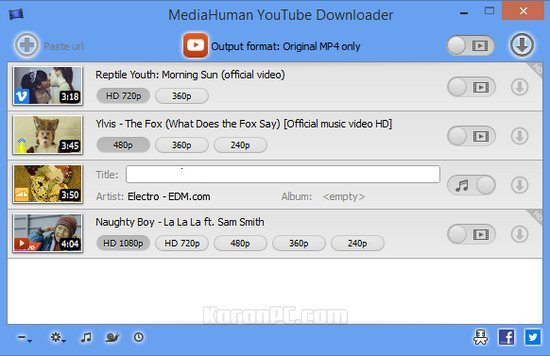 Serial Key MediaHuman YouTube Downloader