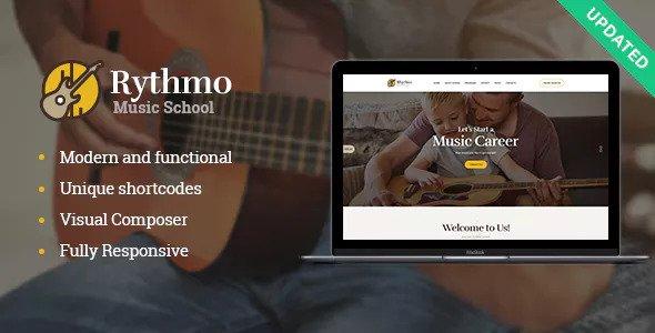 Rythmo v1.0.1 – Music School WordPress Theme
