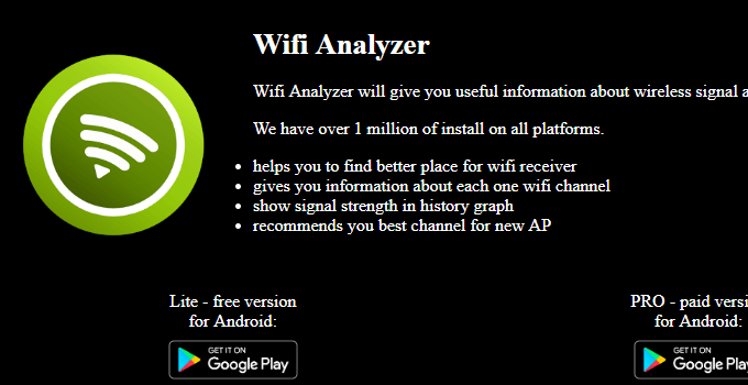 Wi-Fi analyzer for the window