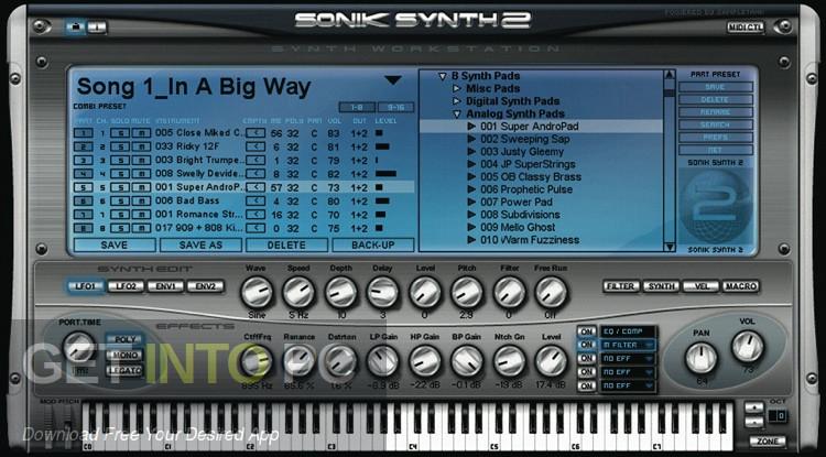 Sonik Synth 2 VSTi Standalone Installer Download-GetintoPC.com