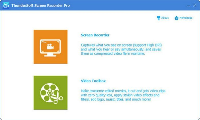 Download ThunderSoft Screen Recorder Pro