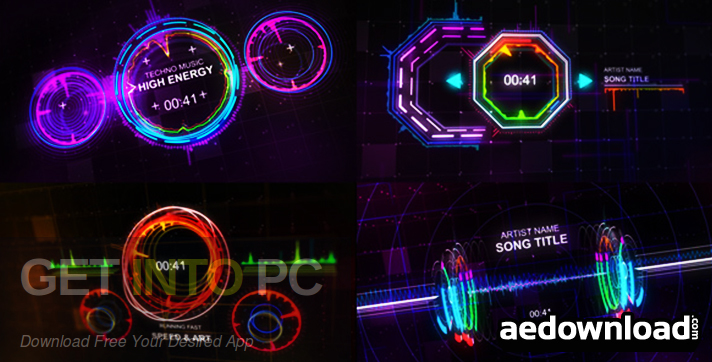 VideoHive Music Visualizer Kit for standalone installer After Effects Download-GetintoPC.com
