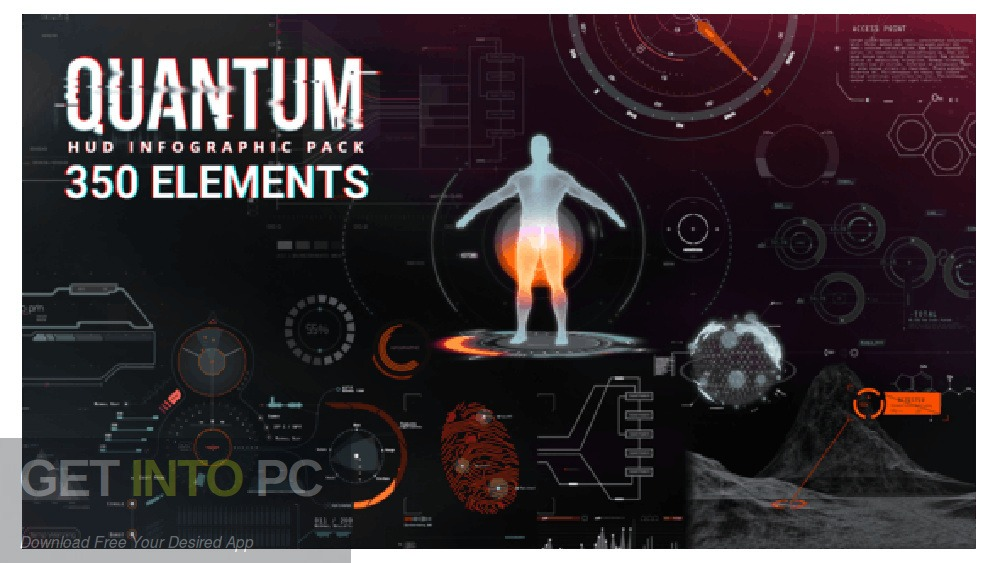 VideoHive Quantum HUD Infographics for After Effects Free Download-GetintoPC.com