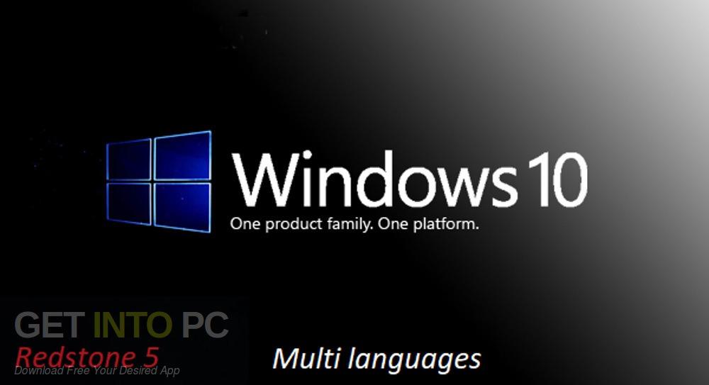 Windows 10 Pro x64 Redstone 5 Multi-Language-24 ISO free download - GetintoPC.com