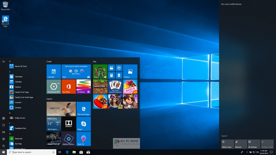 Windows 10 RS5 AIO v1809 March 2019 download free