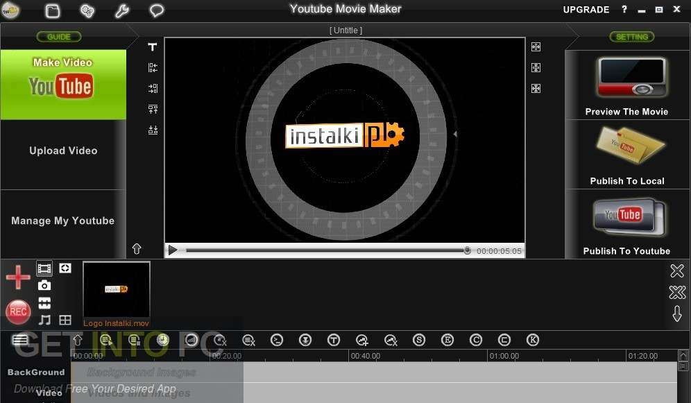 YouTube Movie Maker Platium Standalone Installer Download-GetintoPC.com
