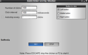 Set the shocking home screen automatic clicker