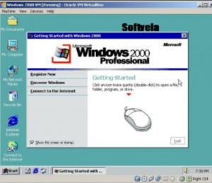 Run Windows 2000 through a virtual machine