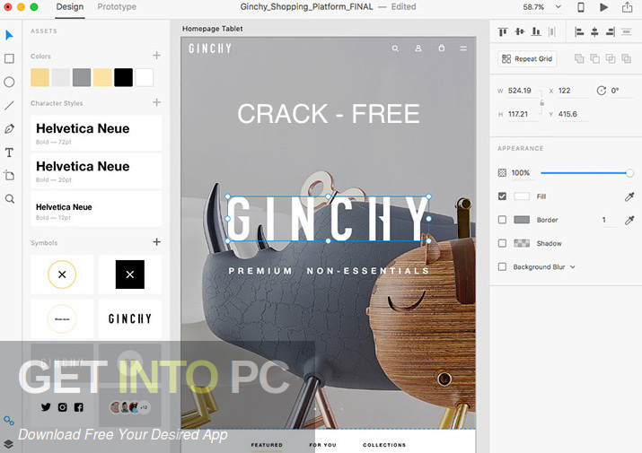 Adobe XD CC 2019 Direct link Download-GetintoPC.com