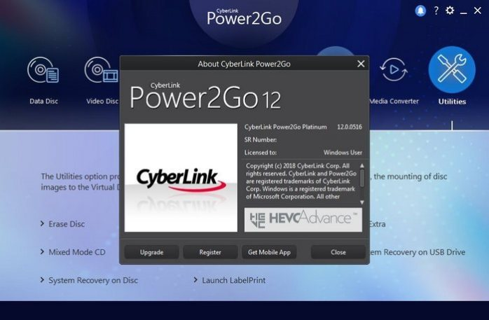 CyberLink Power2Go Platinum 12 Full Download