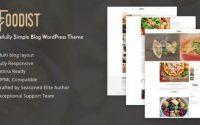 Foodist - Tastefully Simple Blog WordPress Theme
