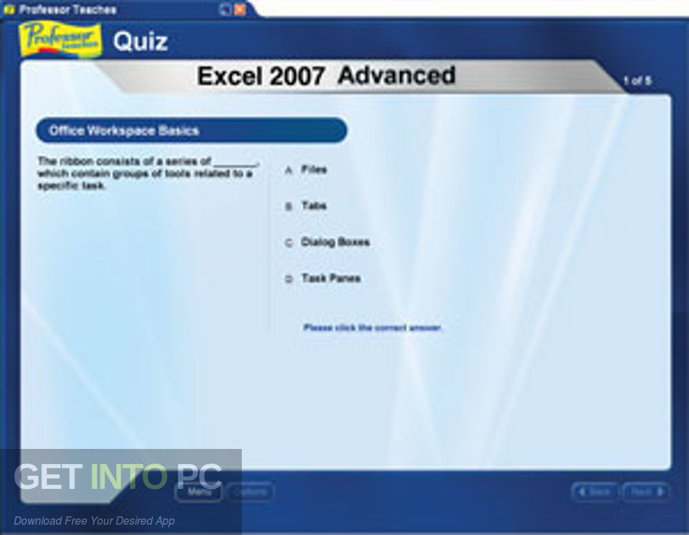 Professor teaches Microsoft Excel 2007 Direct link Download-GetintoPC.com