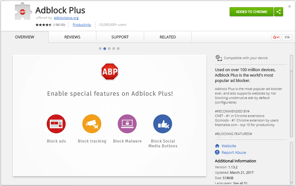 uBlock Origin vs Adbock Plus