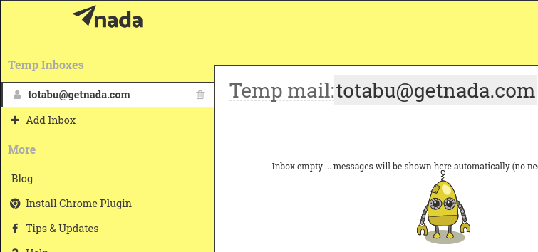 Receive temporary airmail