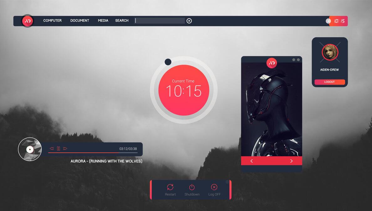 download rainmeter skins