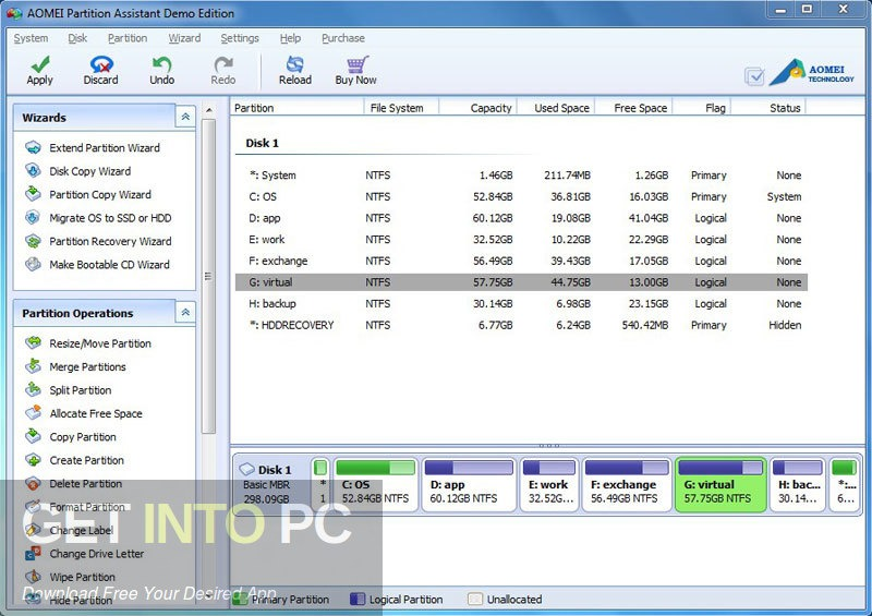 AOMEI Partition Assistant All Editions 7.1 Free Download