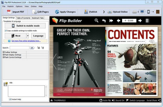 Flip PDF Professional Full Version
