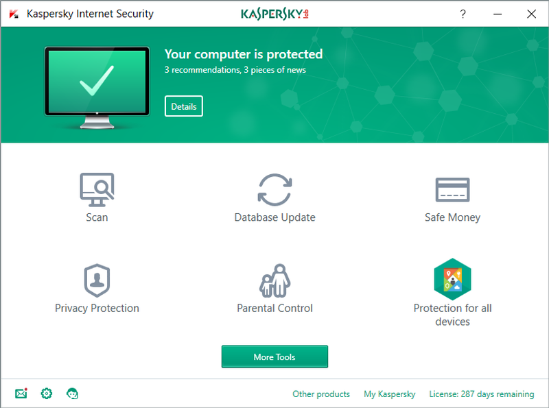 Direct link to Kaspersky Internet Security 2019
