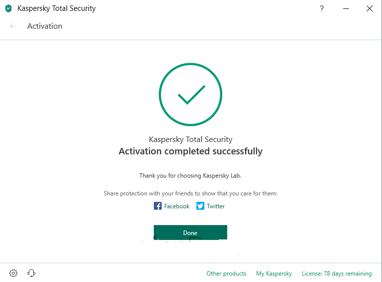 Downloading the stand-alone installer of Kaspersky Internet Security 2019