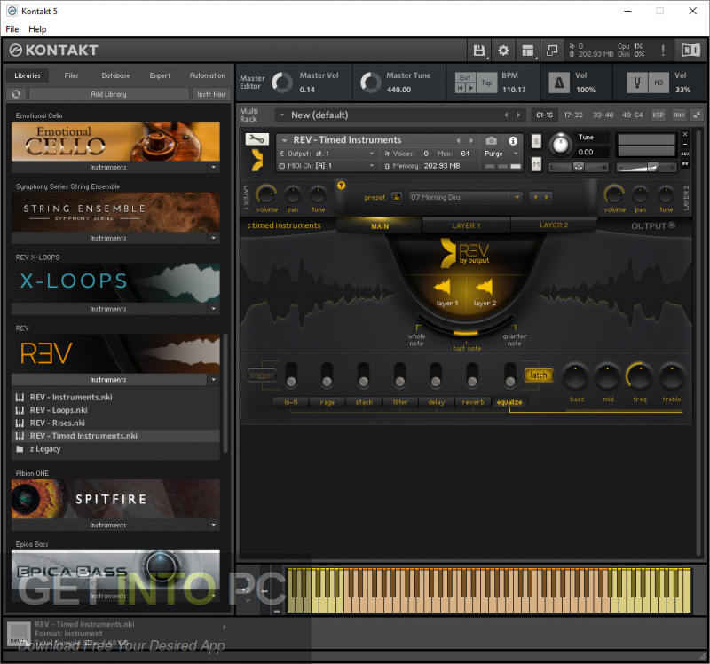 Output sounds - REV Kontakt Library Latest version Download-GetintoPC.com