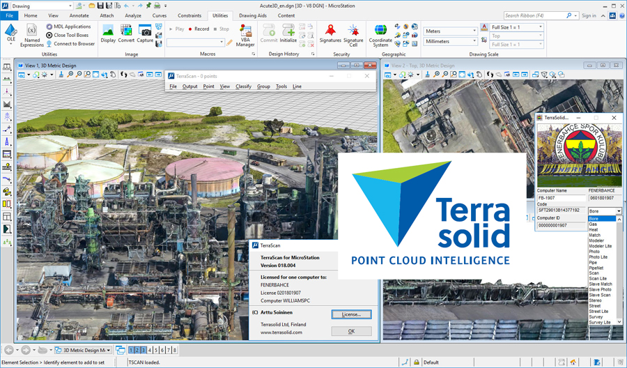 Terrasolid Suite 2019 v19 for Bentley Micro Station Download