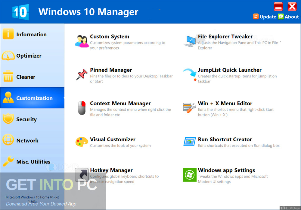 Yamicsoft Windows 10 Manager 2019 Standalone Installer Download-GetintoPC.com